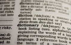 Dictionary definition from dictionary page
